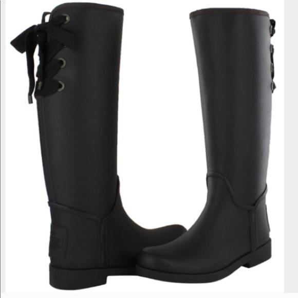 Coach Shoes | Lace Up Coach Rain Boots